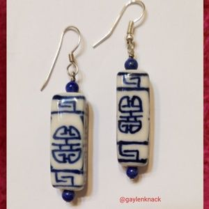 Asian Inspired Ceramic Earrings